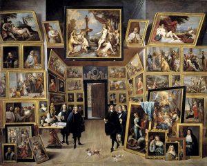 Archiduque-Leopoldo-Guillermo-en-su-galeria-de-pinturas